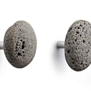 Stone Hooks grey — 2 pcs -0