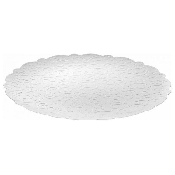alessi dressed tray round white designer contemporary homeware