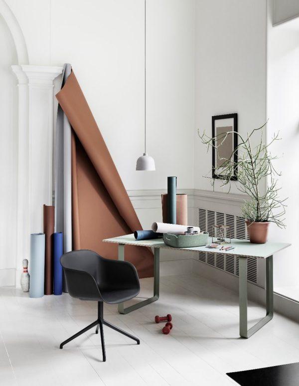 Fiber Arm Chair Swivel-0