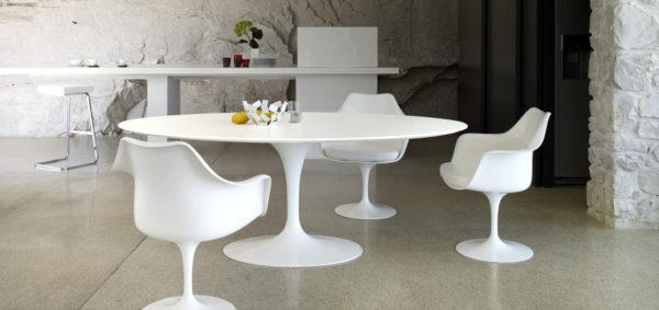 Saarinen Tulip Dining Table Marble-28520