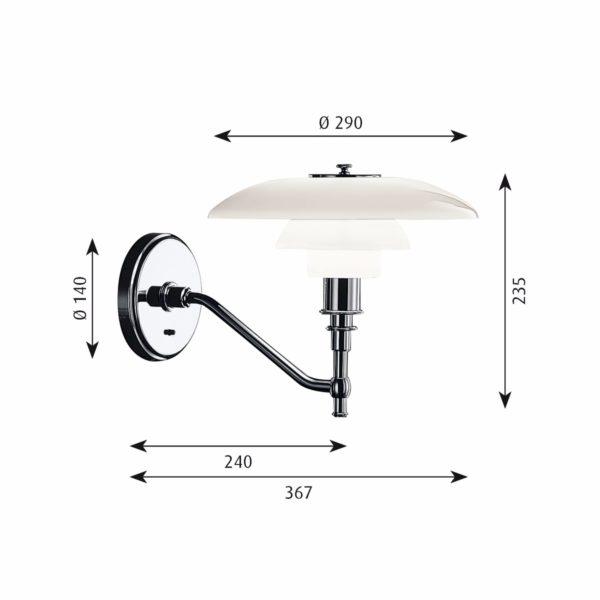 PH 3/2 Wall louis poulsen designer furniture contemporary furniture designer lighting contemporary lighting