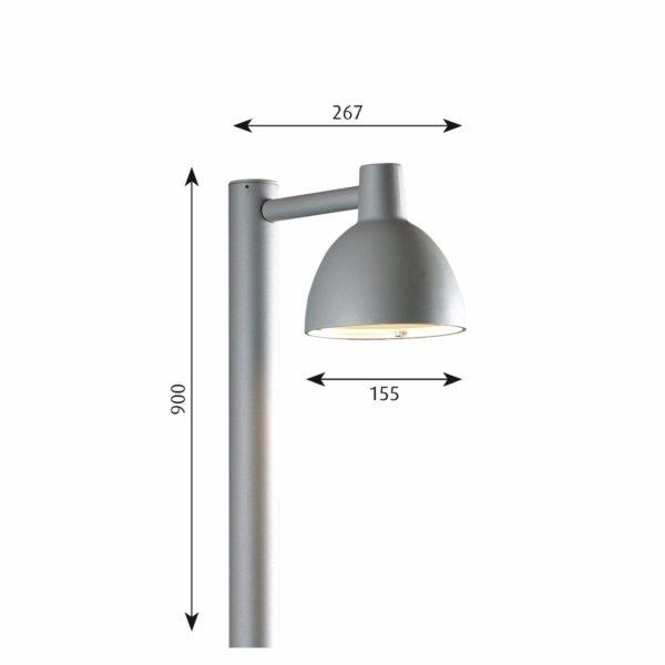 Louis Poulsen Toldbod 155 Bollard Designer Contemporary Lighting