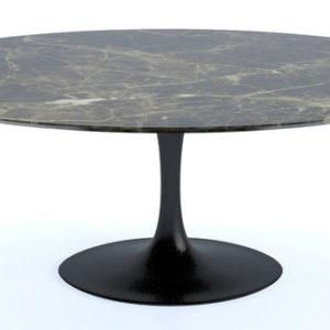 Saarinen Tulip Dining Table Oval Marble -0
