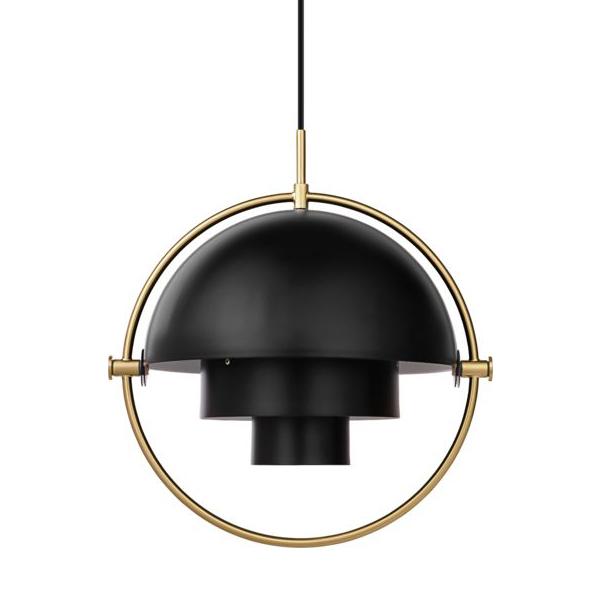 Gubi Multi Lite Pendant Black brass contemporary designer lighting