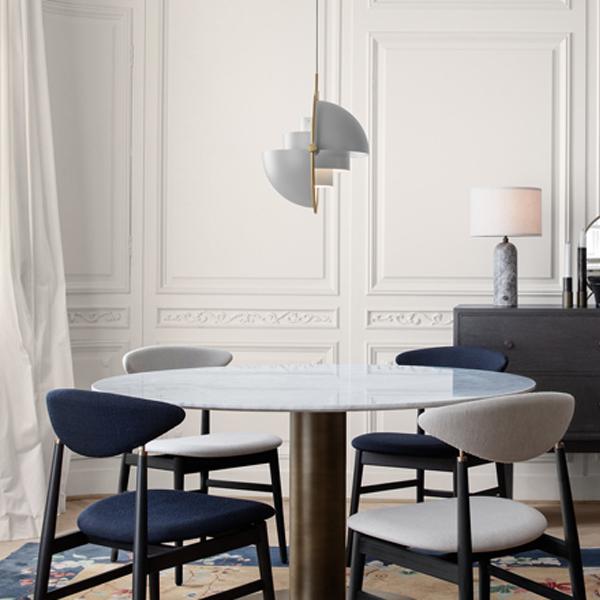 Gubi Semi Pendant Brass Lifestyle contemporary designer lifestyle