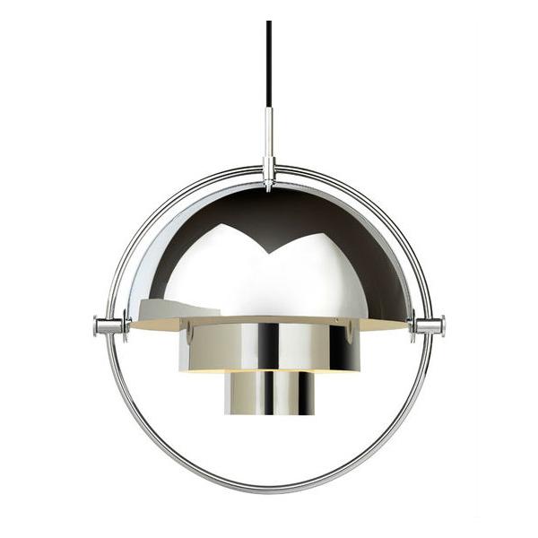 Gubi Multi lite Pendant Chrome contemporary designer lighting