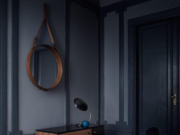 Gubi Adnet Circulaire Mirror Tan Designer furniture Contemporary furniture