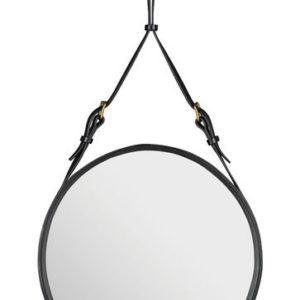 Adnet Circulaire Mirror Black-0