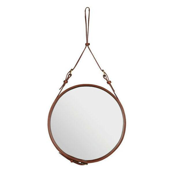 Gubi adnet circulaire mirror tan Designer contemporary furniture