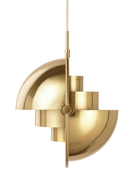 Gubi Multi-Lite Pendant Brass Designer Lighting Contemporary Lighting