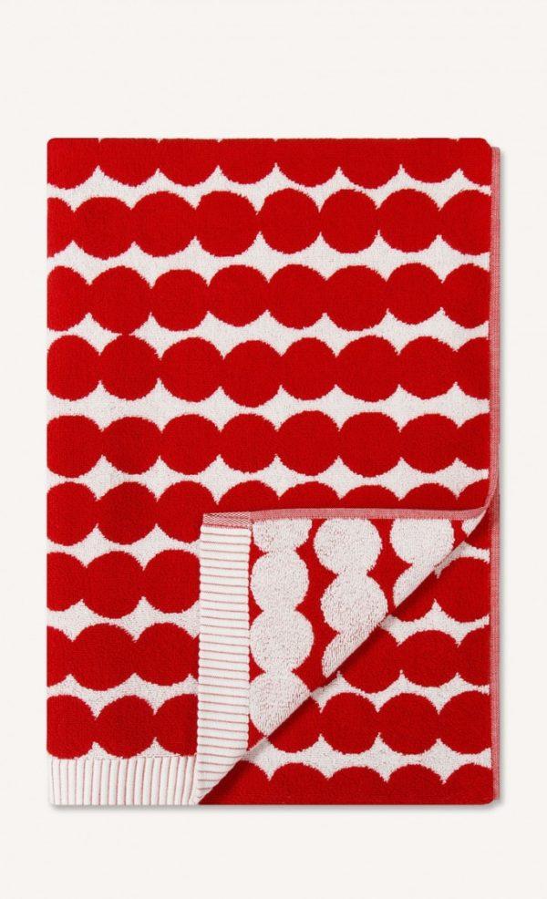 Red Räsymatto Bath Towel -0