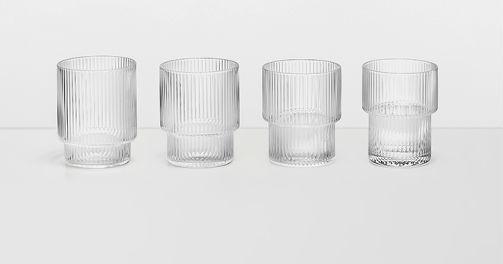 Ripple Glass, Set of 4-0
