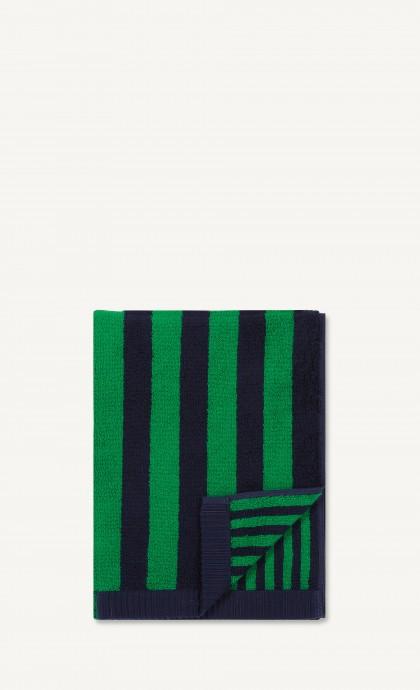 Navy Green Kaksi Raitaa Hand Towel-0