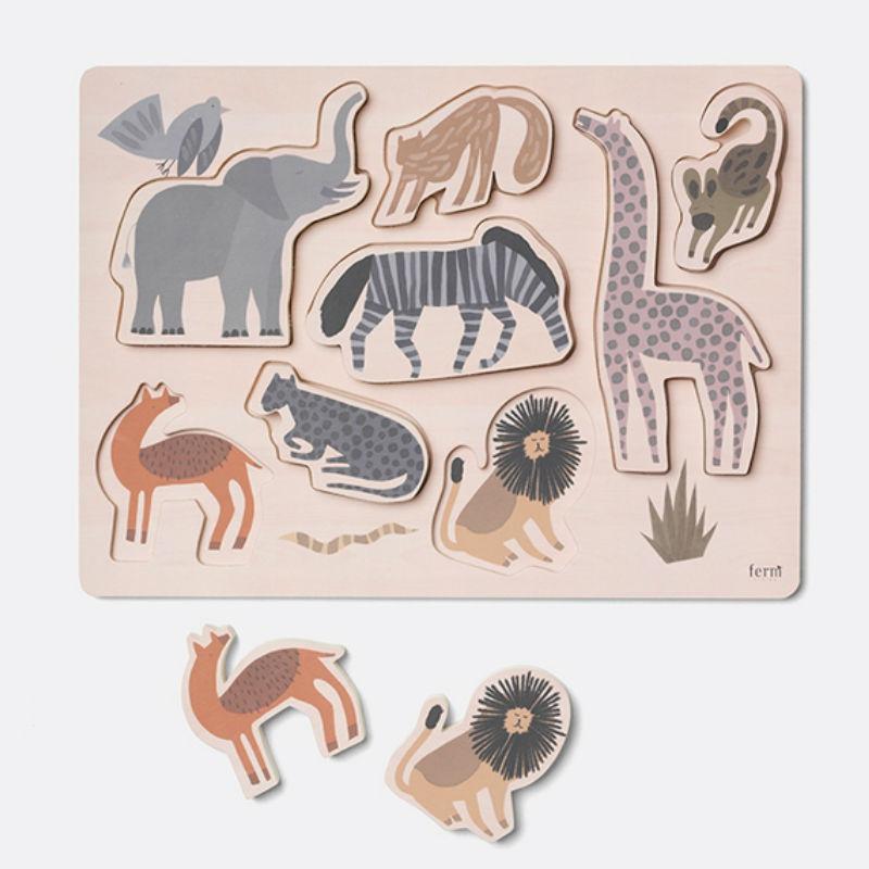 Ferm Living Safari Puzzle Pieces Contemporary Designer Homeware
