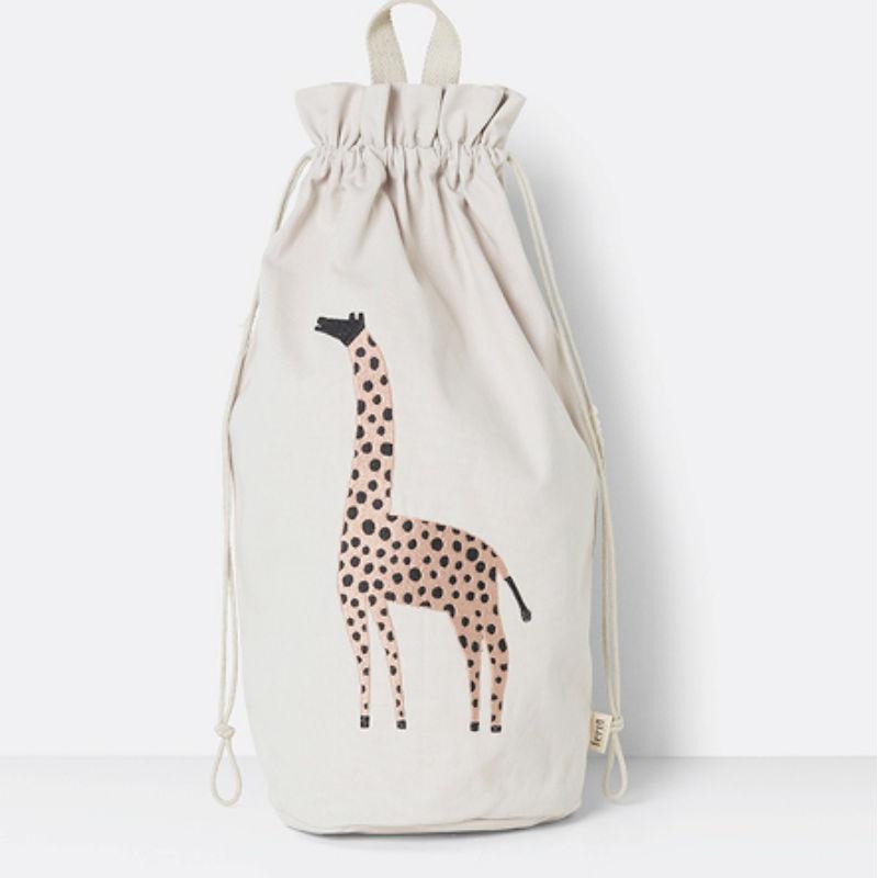 Ferm Living Safari Storage Bag Giraffe Contemporary Designer Homeware