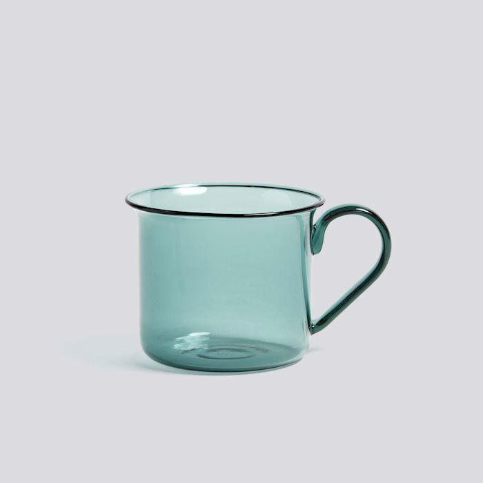 Hay Borosilicate Cup Aqua Contemporary Designer Homeware