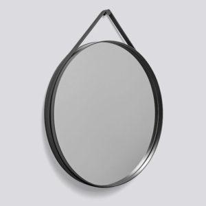 Hay Strap Mirror Anthracite Contemporary Designer Homeware
