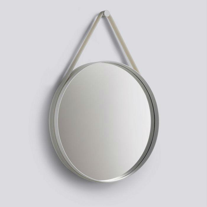 Hay Strap Mirror Grey Contemporary Designer Homeware