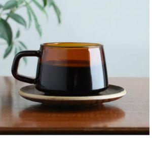 Kinto Sepia Cup and Saucer Contemporary Designer Homeware
