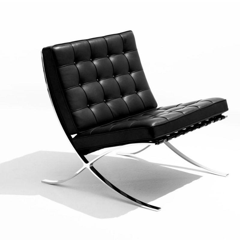 Knoll Barcelona Chair white Contemporary Designer Furniture