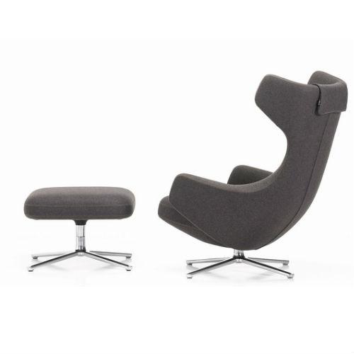Vitra Grand Repos Lounge Chair and Ottoman2 Contemporary Designer Furniture