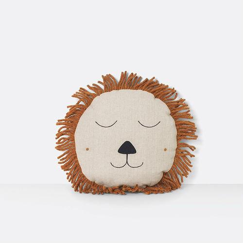 Ferm living safari lion cushion natural Contemporary Designer Homeware