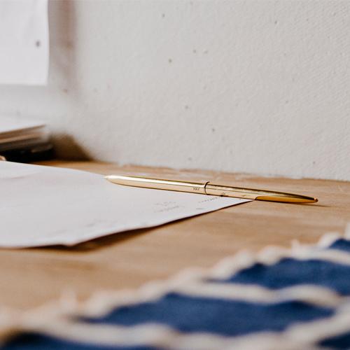 Hay Bullet Pen Golden Lifestyle Contemporary Designer Homeware