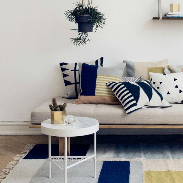 Ferm Living Kelim Rug Squares Lifestyle Contemporary Designer Homeware