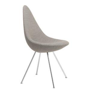 Fritz Hansen Drop Chair Canvas Beige Contemporary Designer Furniture