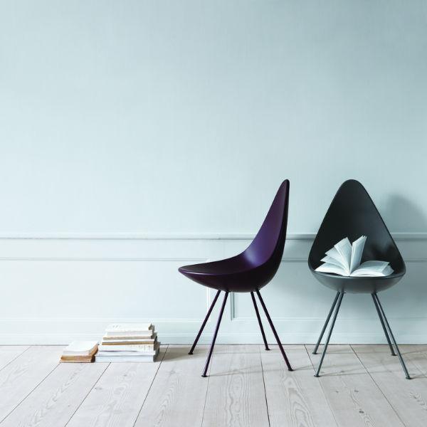 Fritz Hansen Drop Chair Lifestyle2 Contemporary Designer Furniture