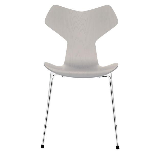 Fritz Hansen Grand Prix White Chromed Steel Contemporary Designer Furniture