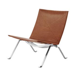 Fritz Hansen PK22 Leather Walnut Contemporary Designer Furniture