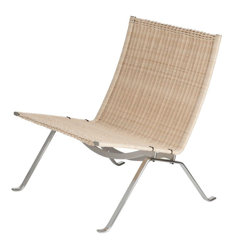 pk22 lounge chair poul kjaerholm wicker minima fritz hansen designer contemporary furniture