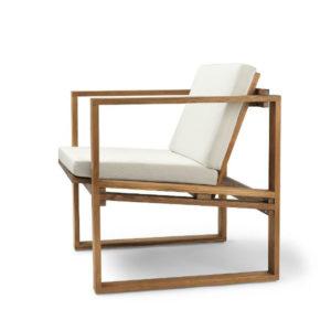 Carl Hansen BK11 Outdoor Lounge Chair Canvas Cushion Contemporary Designer Furniture