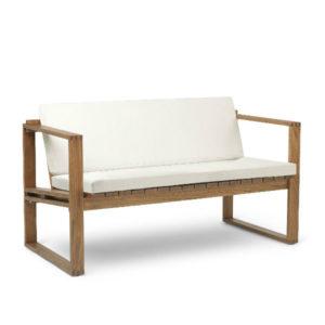 Carl Hansen BK12 Outdoor Lounge Sofa Beige Cushion