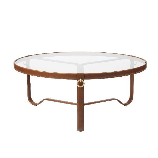 Gubi Adnet Tan Leather 100cm Contemporary Designer Furniture
