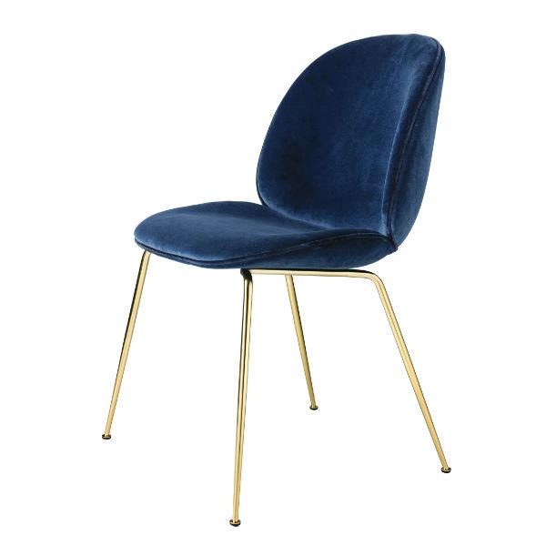 Gubi Beetle Velluto Chair Blue Contemporary Designer Furniture