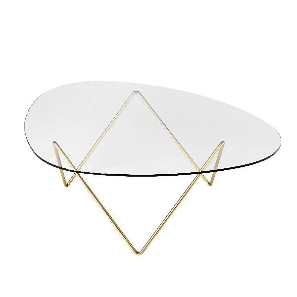 Gubi Pedrera Coffee Table Brass Contemporary Designer Furniture