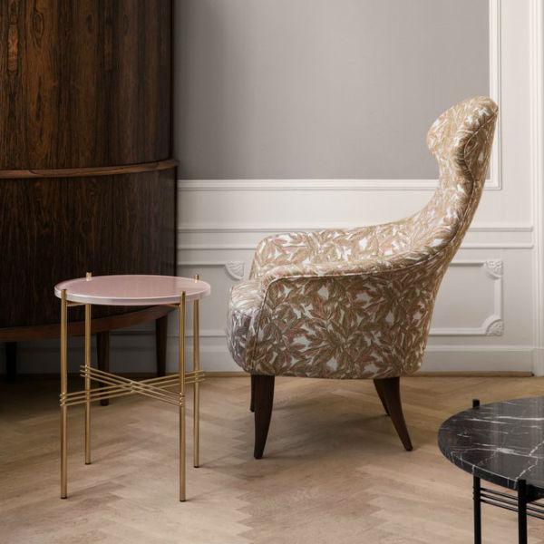 Gubi TS Coffe table 40cm Brass Base Lifestyle Contemporary Designer Furniture
