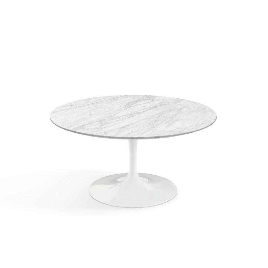 Knoll Tulip Coffee table 91dia carrara marble contemporary designer furniture