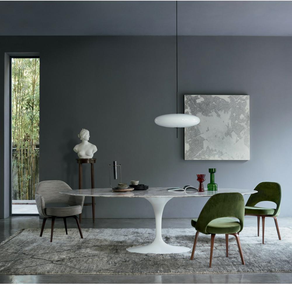 Saarinen Tulip Dining Table Oval 244cm Minima