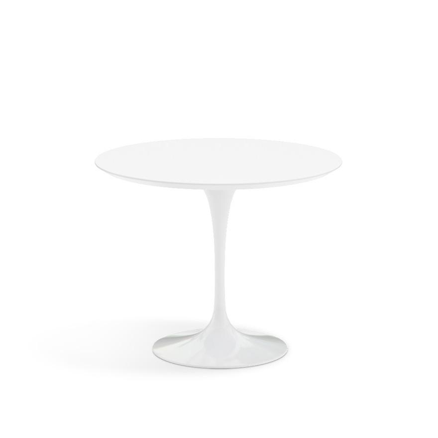 Knoll Tulip round dining table 91cm White Laminate Contemporary Designer Furniture