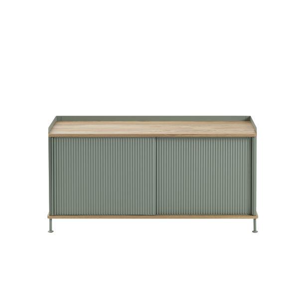 Muuto Enfold Sideboard Dusty Green and Oak Contemporary Designer Homeware