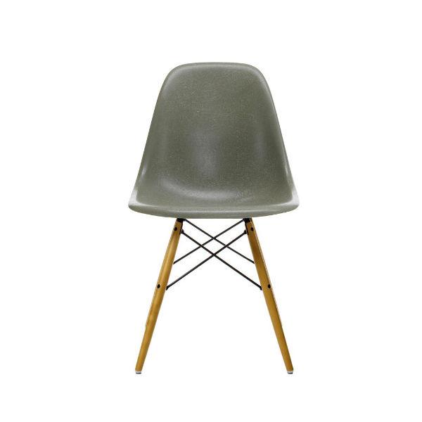 Vitra DSW Fiberglass Side Chair Raw Umber Contemporary Designer Furniture
