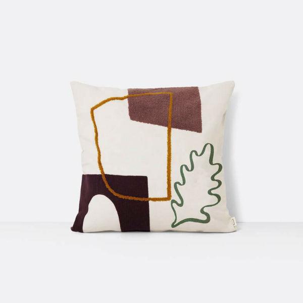 Ferm Living Mirage Leaf Cushion Contemporary Designer Homeware