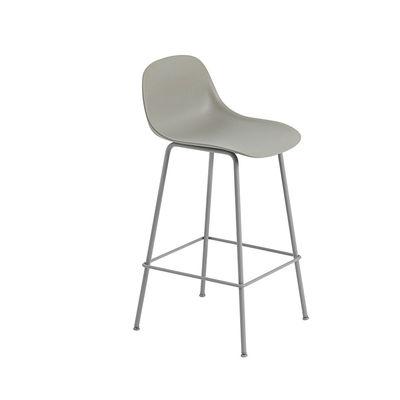 Muuto Fiber Stool Tube Base Grey contemporary Designer Furniture