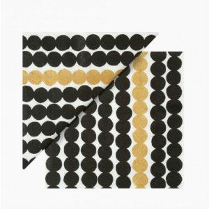 Marimekko Rasymatto Gold Paper Napkins