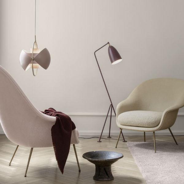Gubi Bat Lounge Chair Low Back Lifestyle 2 Contemporary Designer Furniture