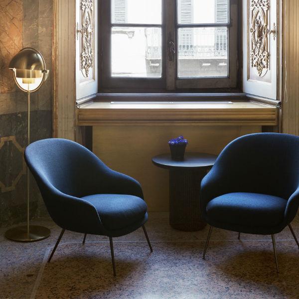 Gubi Bat Lounge Chair Low Back Lifestyle1 Contemporary Designer Furniture