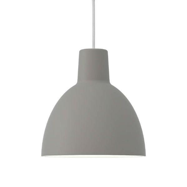 Louis Poulsen Toldbod Pendant Light 25cm diam grey